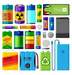 battery electricity charge technology and vector image