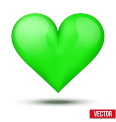 Beautiful realistic green heart vector image