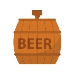 Beer Barrel icon flat style Isolated on white vector image
