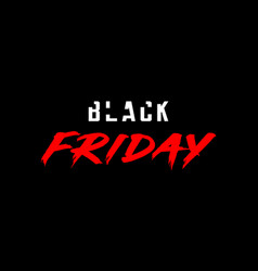 Black friday template design for card or banner vector