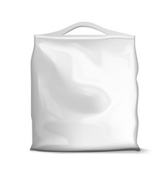blank foil or paper food sachet bag pack vector image