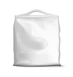 Blank foil or paper food sachet bag pack vector