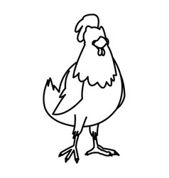 Cartoon hen bird farm domestic animal vector