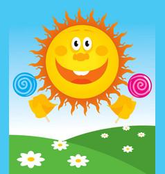Cheerful sun vector