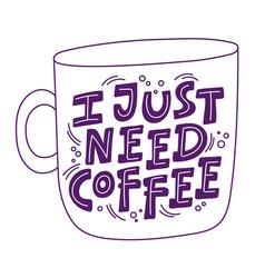 coffee cup print mug vector image