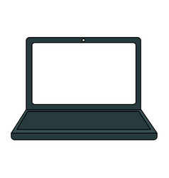 Color graphic laptop computer tech device vector