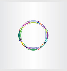 colorful icon design abstract circle logo vector image