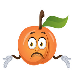 confused apricot on white background vector image