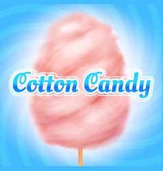 Cotton candy background candyfloss kids sugar vector