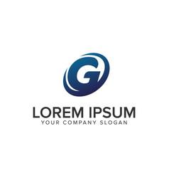 creative modern letter g logo design concept vector image
