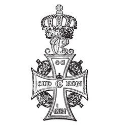 Dannebrog with the royal crown in this pattern vector
