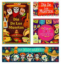 Day dead in mexico dia de los muertos holiday vector