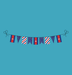 Decorations bunting flags for cambodia national vector