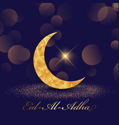 decorative eid al adha background with low poly vector image
