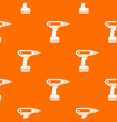 electric screwdriver drill pattern seamless vector image