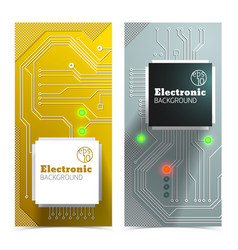 electronic board banners set vector image