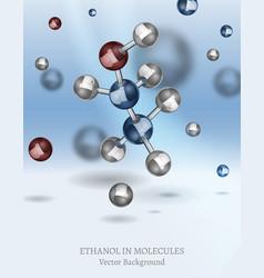 ethanol background image vector image