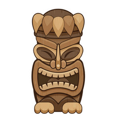 Ethnic idol icon cartoon style vector