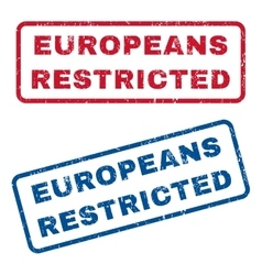 Europeans Restricted Rubber Stamps vector