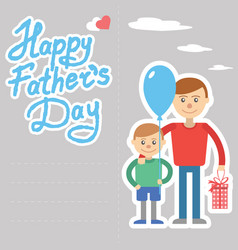 Father and son for day holida vector