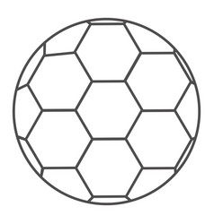 Grayscale contour with soccer ball vector