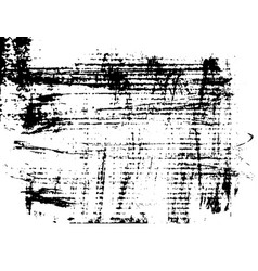 grunge ink dry brush texture on cardboard vector image