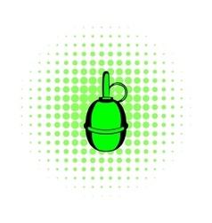 Hand grenade comics icon vector image