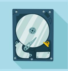 hard disk internal computer flat illustration vector image
