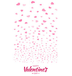 heart confetti background of valentines petals vector image