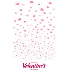 heart confetti background valentines petals vector image