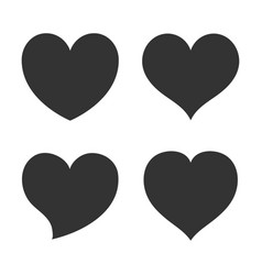 heart shape icon sign symbol silhouette love vector image
