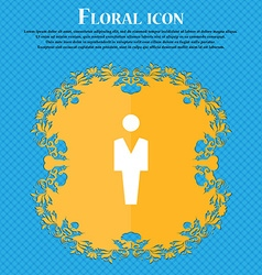 Human Man Person Male toilet Floral flat design vector