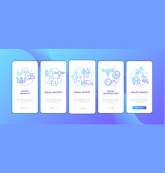 Human sexuality blue gradient onboarding mobile vector