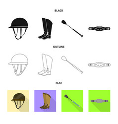 isolated object of equipment and riding symbol vector image