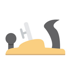jack plane flat icon build and repair carpentry vector image