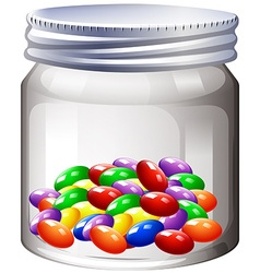 Jar of colorful candy vector image