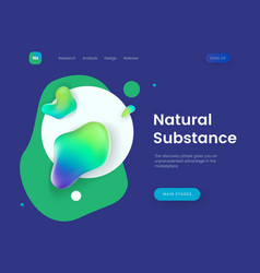 landing page template with a blue background and vector image