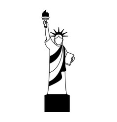 liberty statue isolated icon vector image
