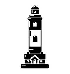lighthouse icon simple black style vector image