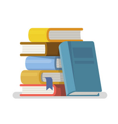 Literature and library in flat style vector