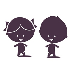 little child vector image