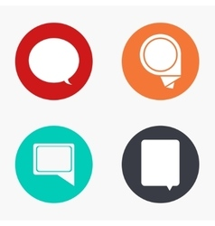 modern bubble speech colorful icons set vector image
