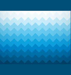 modern jagged blue ocean background vector image