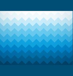 Modern jagged blue ocean background vector