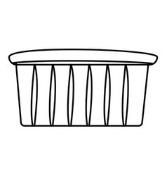 Muffin icon outline style vector