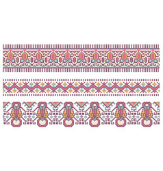 Pattern for traditional ukrainian cross-stitch vector