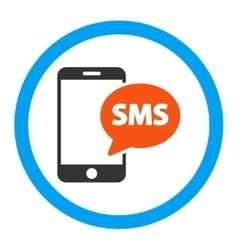 Phone Sms Rounded Icon vector image