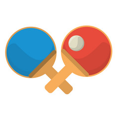 Ping pong paddle ball vector