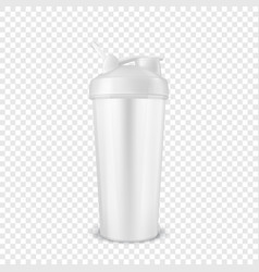 realistic 3d white empty glossy metal vector image