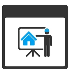 Realty developer calendar page toolbar icon vector